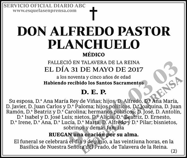 Alfredo Pastor Planchuelo